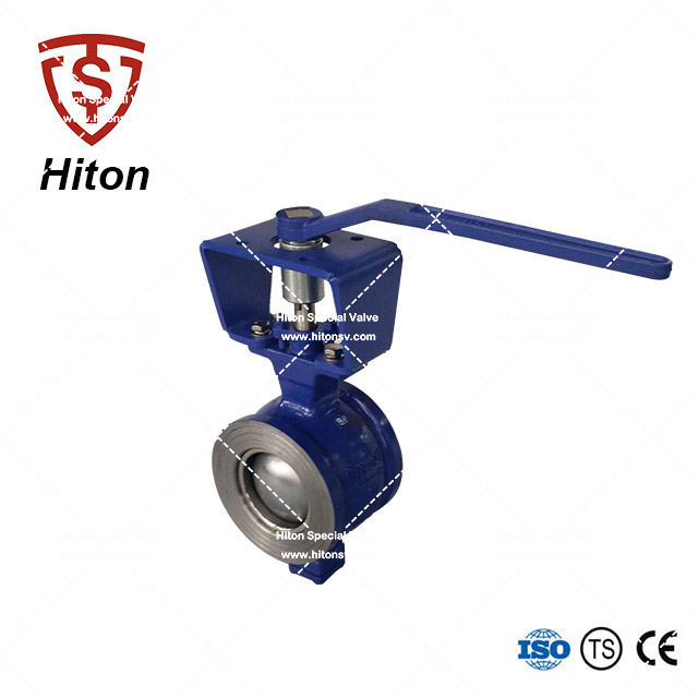 Flange-less V notch Ball Valve