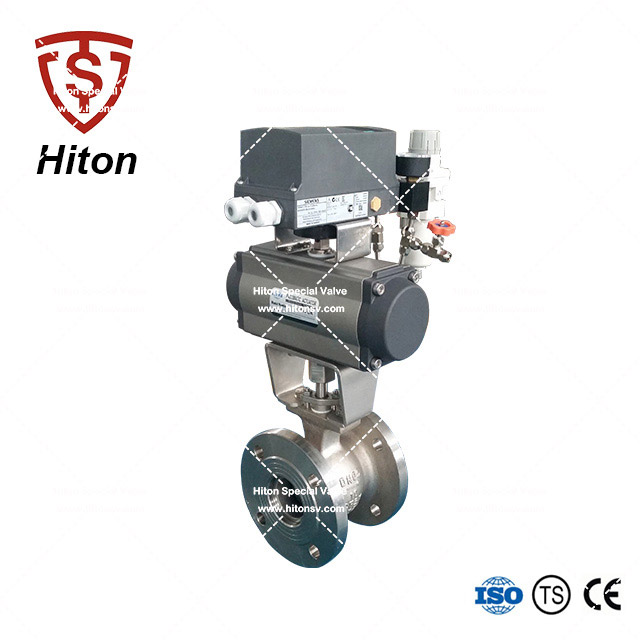 DIN V notch Ball Valve