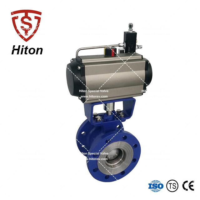 Pneumatic V port Ball Control Valve