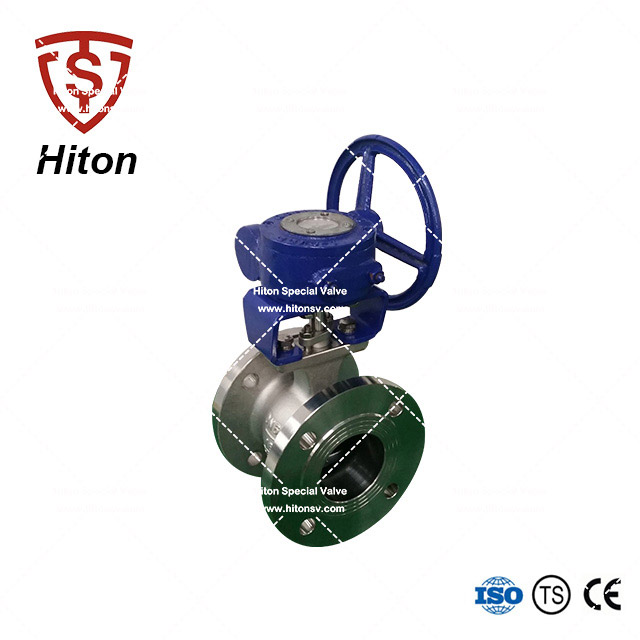 Worm Gear V notch Ball Valve