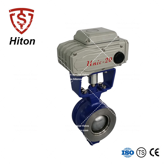 WCB Electric V port Ball Valve